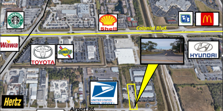 aerial map flyer 2699 Airport Rd